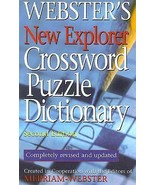 Webster's New Explorer Crossword Puzzle Dictionary (2005, Hardcover) - $3.99