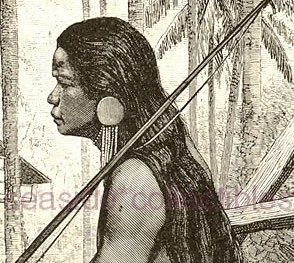 Primary image for WARRIOR OF GUIANGA 1800s Nat History Wood Engraving
