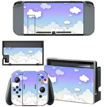 Nintendo Switch Console Joy-Con Dock Vinyl Skin Stickers Purple Blue Cloudy Sky - $9.70
