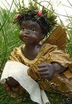 AFRO BLACK CHERUB Angel in GOLD CLOTHTIQUE 80s ... - $22.99