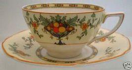 Crown Ducal Ware FINE BONE CHINA Bountiful Fruit Teacup - $22.99