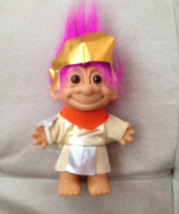 """Russ Troll Gladiator Roman Soldier Purple Hair 5"""" Tall Nice Never Played With - $9.99"""