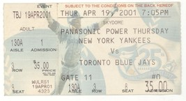 New York Yankees @ Toronto Blue Jays 4/19/01 Ticket Stub! NYY W, Roger C... - $2.99