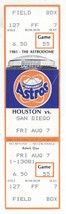 San Diego Padres @ Houston Astros 8/7/81 Phantom Ticket! 1981 Strike - $2.99
