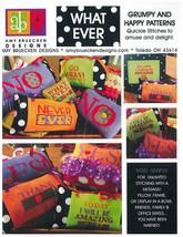 CLEARANCE Grumpy & Happy Patterns (9 patterns) cross stitch Amy Bruecken Designs - $11.00