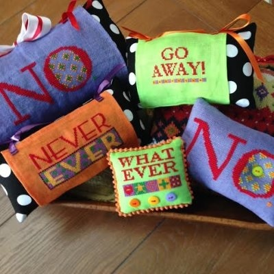 CLEARANCE Grumpy & Happy Patterns (9 patterns) cross stitch Amy Bruecken Designs