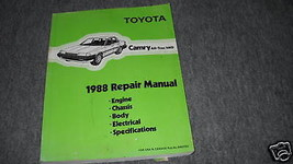 1988 Toyota Camry ALL-TRAC 4WD Service Repair Shop Workshop Manual Oem Book - $18.81