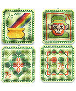 CLEARANCE St. Patrick's Day 7 cent Holiday Stamps cross stitch chart Han... - $3.75