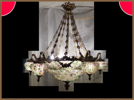 Very Large Spectacular Vintage Antique Brass Bronze European Chandelier ... - $9,999.99