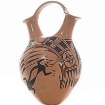 Hand Built & Painted Mata Ortiz Lizard Wedding Vase Polychrome By Gris C... - $449.00