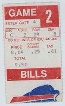 RARE Tampa Bay Buccaneers @ Buffalo Bills 9/3/77 Ticket Stub! Bucs Prese... - $3.99