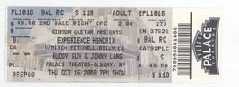 EXPERIENCE HENDRIX, BUDDY GUY, JONNY LANG 10/16/08 Albany NY Ticket! Jimi - $9.49
