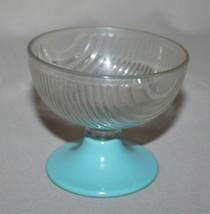 Melmac Turquoise Pedestal Dessert Cup Melamine ... - $2.48