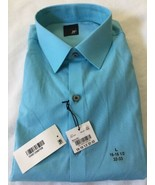 JF J. Ferrar Solid Dress Shirt - Slim Fit - L 16-16.5 32-33 Beach Blue - $14.01