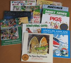 Robert Munsch 11 books Angelas Airplane Pigs Mortimer Paper Bag Princess... - $13.93