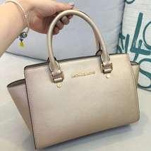 Michael Kors Women's Selma Medium Top Zip Satchel Satchel Handbag Gold - $209.00+