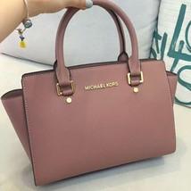 Michael Kors Women's Selma Medium Top Zip Satchel Satchel Handbag Milk Tea - $205.00+