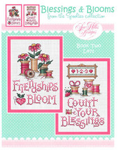 CLEARANCE Blessings and Blooms cross stitch chart Sue Hillis Design - $7.50