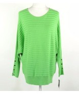ALFANI Size 1X Ribbed Button Detail Batwing Swe... - $27.00