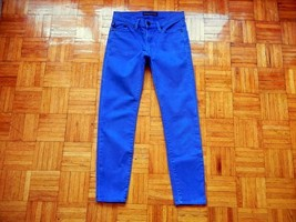 ROCK & REPUBLIC Size 0 Hamburg Skinny Blue Colored Denim Jeans EUC Insea... - $22.99
