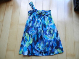 ANN TAYLOR LOFT Size 6 Blue Green Gray One Shou... - $24.99