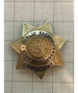 Lindsay California Obsolete Police Badge Public Safty Sargeant - $185.00