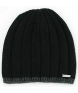 Michael Kors Wool Hat Beanie Mens Black One Size - $88.53