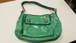 COACH Spearmint Green Small Patent Leather Shoulder Bag Handbag C0973-13852 - $44.99