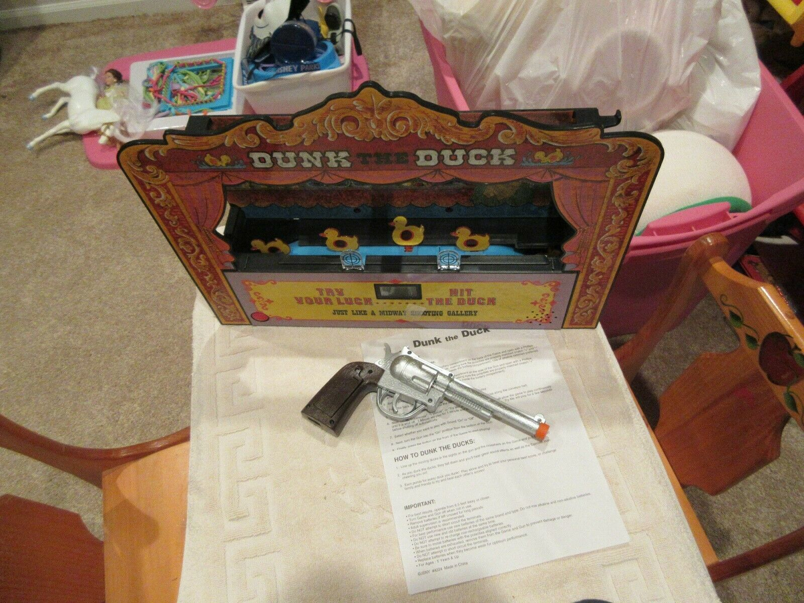 Dunk The Duck , Carnival Game , Battery Operated , Vintage