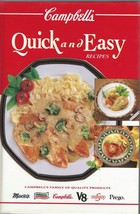 Campbell's QUICK and EASY RECIPES Cookbook;150 recipes;200 color photos;192PAGES - $9.99