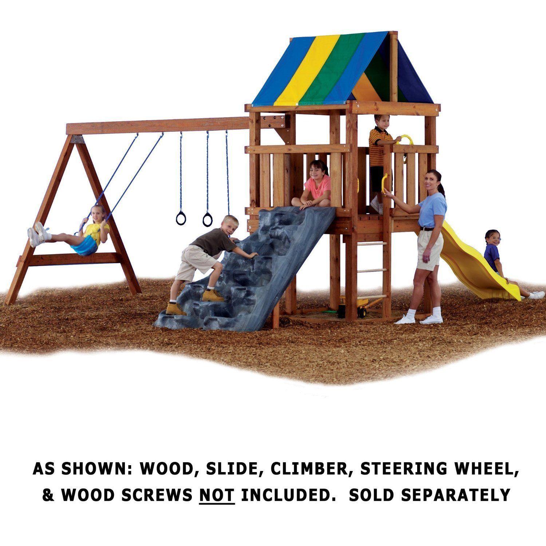Play Set Kit Swing Slide Swingset Outdoor House Backyard ...