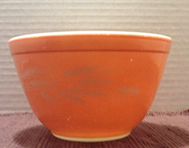 Vintage PYREX Small Cinderella 401 Mixing Bowl AUTUMN HARVEST Nesting Bowl - $9.50