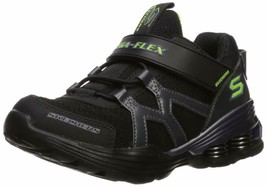 Skechers Kids Boys' MEGA-Volt Sneaker, Black/Purple, 13.5 Medium US Litt... - $49.49
