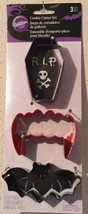 Wilton Halloween Vampire Theme Metal Cookie Cutter Set - Monster High Parties! - $7.14