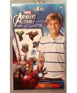 Marvel Avengers Assemble Temporary Tattoos - Hulk, Ironman & More - Party Favors - $4.94