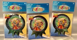 Yazzles TOY STORY Light-Up Round Sticker Badge - Lot Of 3 - Party Favors! - $5.94