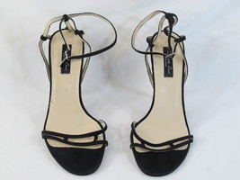 Kenneth Cole New York Black Suede Ankle Strap Open Toe Heels 10 M US EUC - $17.70