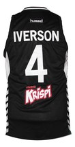 Allen Iverson Cola Turka Basketball Jersey New Sewn Black Any Size image 2