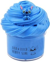 Amazetoy Newest Blue Stitch Fluffy Slime,Butter Slime for Boys and Girls,Super S