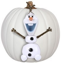 Disney's Frozen OLAF Pumpkin Push-Ins - 5 Plastic Pieces - Safe Hallowee... - $14.19