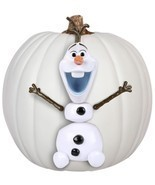 Disney's Frozen OLAF Pumpkin Push-Ins - 5 Plastic Pieces - Safe Hallowee... - $14.41