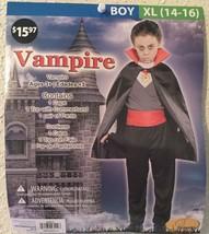 Seasons Classic VAMPIRE Halloween Costume - Boys XL (14-16) NEW Cape, Pa... - $12.94