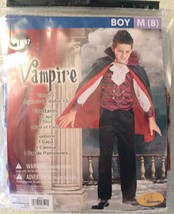 Seasons Classic VAMPIRE Halloween Costume - Boys Medium (8) NEW Cape, Pa... - $12.94
