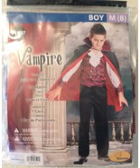 Seasons Classic VAMPIRE Halloween Costume - Boys Medium (8) NEW Cape, Pa... - $12.94