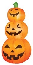 Halloween Inflatable Lighted 3 PUMPKIN STACK - 4' Tall - NEW - Indoor / ... - €33,56 EUR