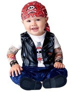 Born to be Wild Halloween Baby Infant Biker Costume Cute Mesh Tattoo Sle... - $337,72 MXN