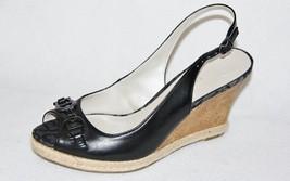 ETIENNE AIGNER - Black Leather Open Toe Slingba... - $14.99