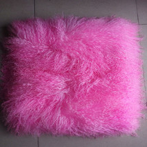 Bright Pink Mongolian Fur Pillow Cover Sofa Cushion Covers Decorative Pi... - $45.99+