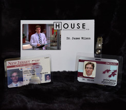 """TV SERIES HOUSE MD REPLICA PROP """"JAMES WILSON"""" DRIVERS LICENSE AND HOSPI... - $18.66"""