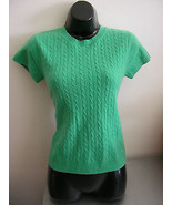 CASHMERE sweater lilly pulitzer green short sle... - $49.49